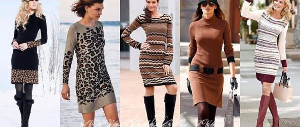 Вязаное платье – зима 2013/2014